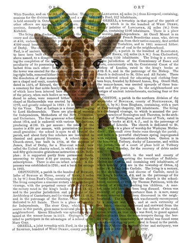 Giraffe and Scarves art print by Fab Funky for $33.75 CAD