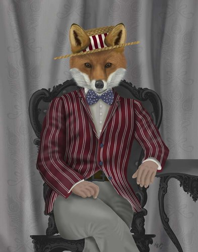 Fox 1920s Gentleman art print by Fab Funky for $33.75 CAD