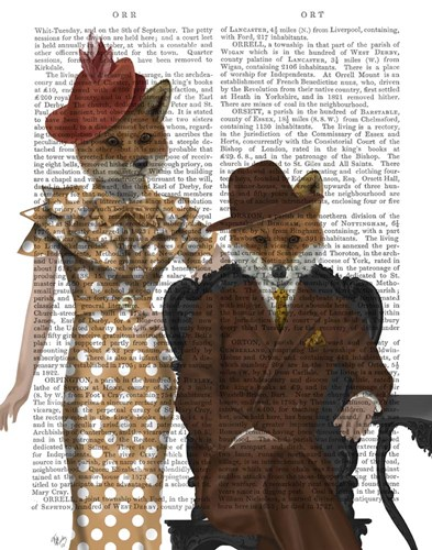 Fox Couple 1930s art print by Fab Funky for $33.75 CAD