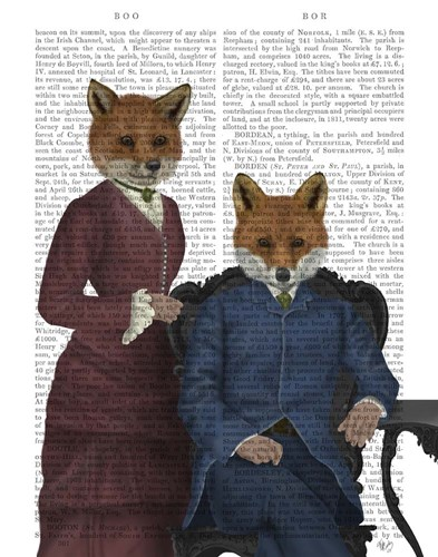 Fox Couple Edwardians art print by Fab Funky for $33.75 CAD