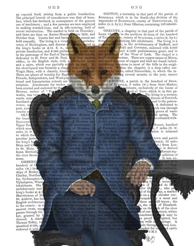 Fox Edwardian Gent, Portrtait art print by Fab Funky for $33.75 CAD
