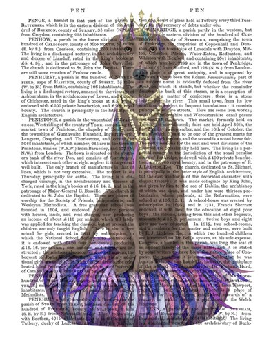 Weimaraner on Purple Cushion art print by Fab Funky for $33.75 CAD
