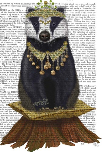 Badger with Tiara, Full art print by Fab Funky for $37.50 CAD