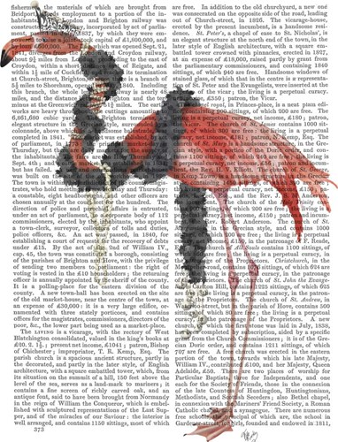Flamingo and Pearls, Full art print by Fab Funky for $35.00 CAD