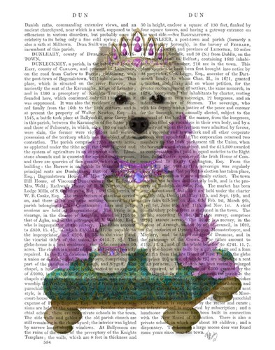 West Highland Terrier with Tiara art print by Fab Funky for $33.75 CAD