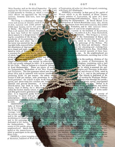 The Right Honourable Lady D art print by Fab Funky for $33.75 CAD