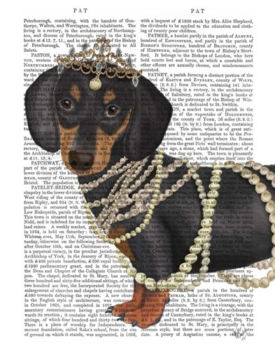 Dachshund and Tiara art print by Fab Funky for $33.75 CAD