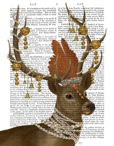 Deer with Gold Bells art print by Fab Funky for $33.75 CAD