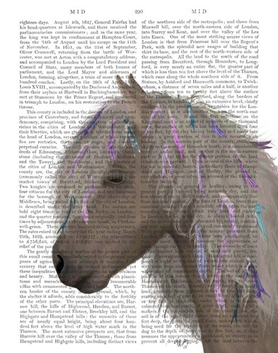 Horse Beige with Ribbons art print by Fab Funky for $33.75 CAD