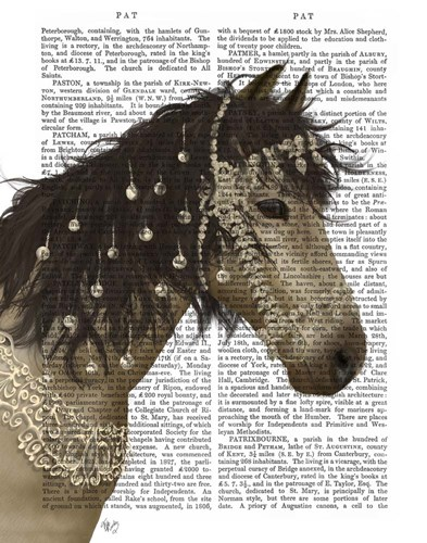 Horse Buckskin with Jewelled Bridle art print by Fab Funky for $33.75 CAD