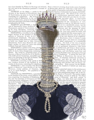 Ostrich and Pearls, Portrait art print by Fab Funky for $33.75 CAD