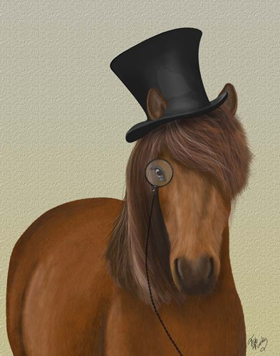 Horse Top Hat and Monocle art print by Fab Funky for $33.75 CAD