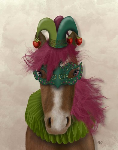 Horse Strawberry Fool art print by Fab Funky for $33.75 CAD