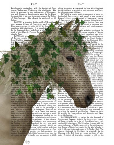 Horse Porcelain with Ivy art print by Fab Funky for $33.75 CAD