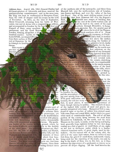 Horse Chestnut with Ivy art print by Fab Funky for $33.75 CAD