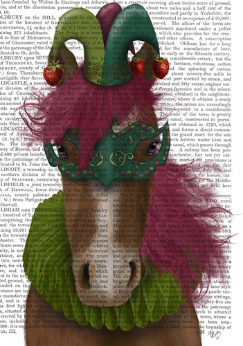 Horse Strawberry Fool art print by Fab Funky for $36.25 CAD