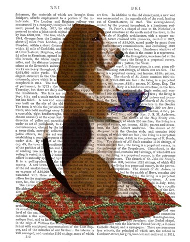 Basset Hound Taking Tea art print by Fab Funky for $33.75 CAD