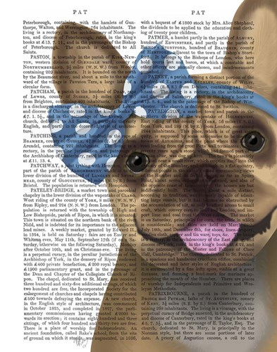 French Bulldog and Blue Bow art print by Fab Funky for $33.75 CAD