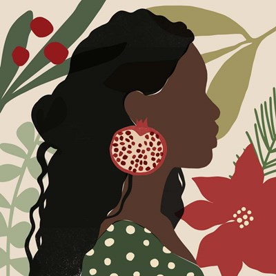 Christmas Earring I art print by Victoria Barnes for $112.50 CAD