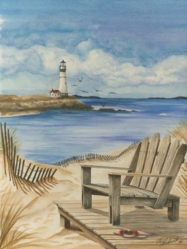 Lighthouse View I art print by Jay Throckmorton for $38.75 CAD