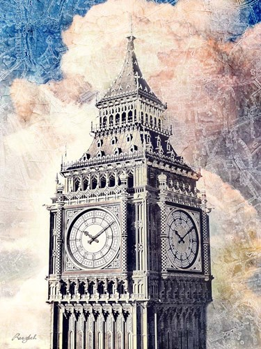 Distressed London art print by Roozbeh for $63.75 CAD