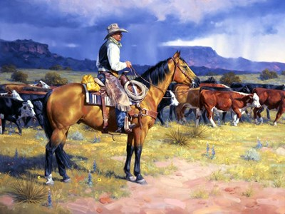 Great American Cowboy art print by Jack Sorenson for $63.75 CAD