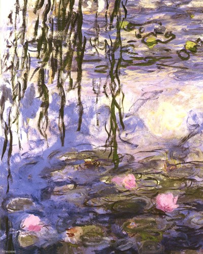 Waterlilies art print by Claude Monet for $25.00 CAD