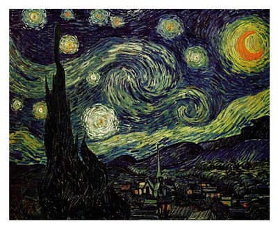 The Starry Night, c.1889 art print by Vincent Van Gogh for $179.99 CAD