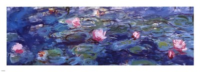 Water Lilies (blue and purple) art print by Claude Monet for $51.25 CAD