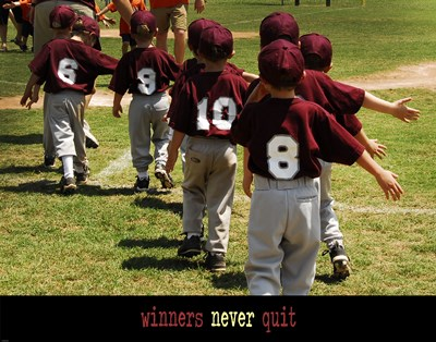 Winners Never Quit art print by Unknown for $83.75 CAD