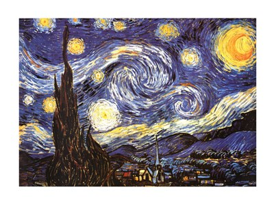 The Starry Night, c.1889 art print by Vincent Van Gogh for $92.50 CAD