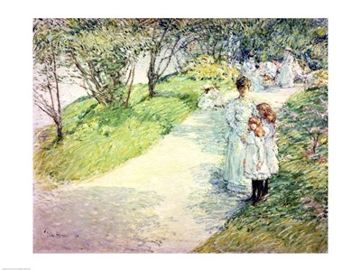 Promenaders in the garden, 1898 art print by Childe Hassam for $32.50 CAD