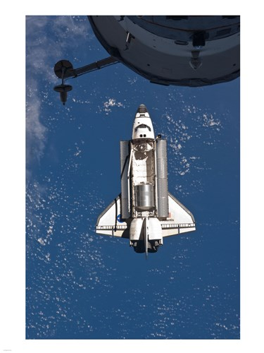 STS-135 Atlantis approaches the ISS art print by Unknown for $67.50 CAD