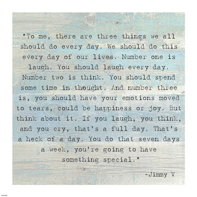 Three Things, Jimmy V Quote art print by Unknown for $63.75 CAD