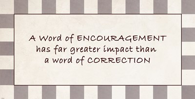 A Word of Encouragement Quote art print by Unknown for $27.50 CAD
