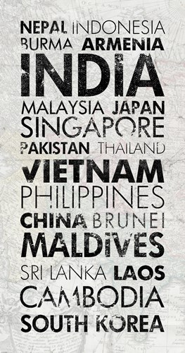 Asia Countries I art print by Veruca Salt for $65.00 CAD