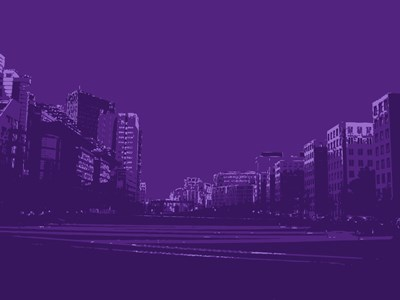 City Block on Purple art print by George Dilorenzo for $87.50 CAD
