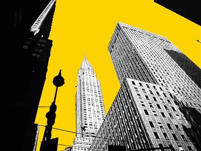 New York on Yellow art print by George Dilorenzo for $87.50 CAD