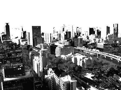 Skyline in Osaka1 art print by George Dilorenzo for $87.50 CAD