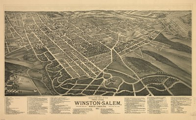 Winston Salem, North Carolina in 1891 art print by Unknown for $53.75 CAD