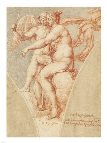 Venus and Cupid after Raphael art print by Pieter van Lint for $67.50 CAD