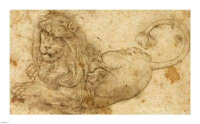 Study of a Lion art print by Lucas Cranach for $51.25 CAD