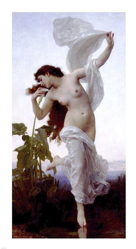 Greek Goddess Eos, the Goddess of Dawn art print by William Adolphe Bouguereau for $50.00 CAD