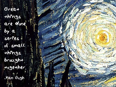 Great Things - Van Gogh Quote 1 art print by Quote Master for $41.25 CAD