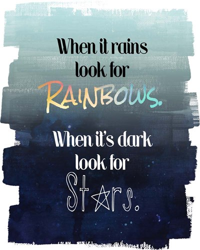 Look for Rainbows art print by Quote Master for $56.25 CAD