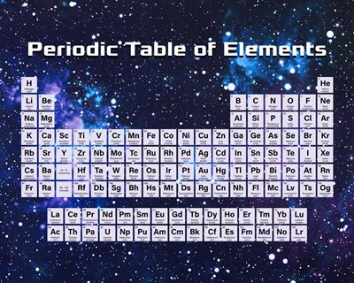 Periodic Table Of Elements Space Theme art print by Color Me Happy for $25.00 CAD