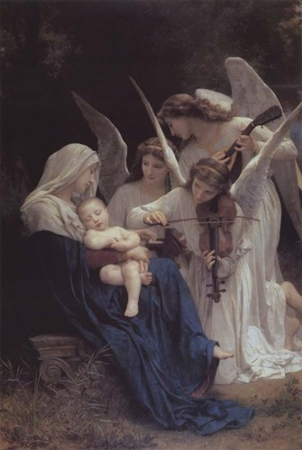 Song of the Angels art print by William Adolphe Bouguereau for $35.00 CAD
