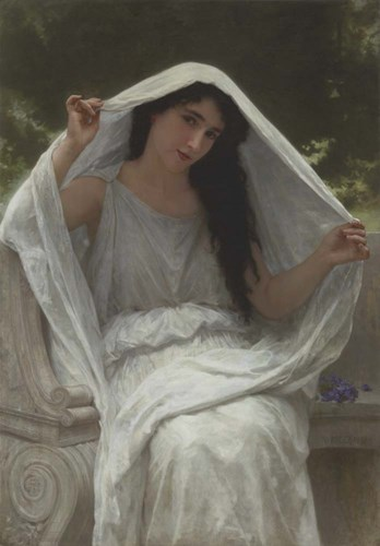 Veil art print by William Adolphe Bouguereau for $35.00 CAD