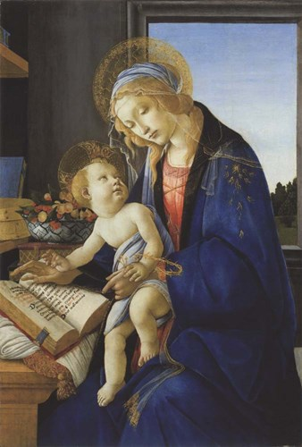 Madonna of the Book, 1480 art print by Sandro Botticelli for $35.00 CAD