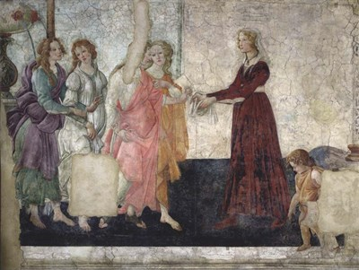 Venus and the Graces Offering Gifts to a Young Girl art print by Sandro Botticelli for $36.25 CAD